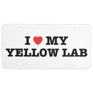 I Herz meine Labrador-Lizenz-Platte US Nummernschild