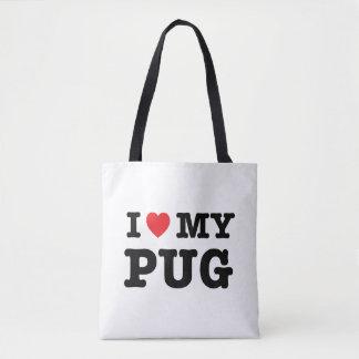 I Herz meine Mops-Taschen-Tasche Tasche