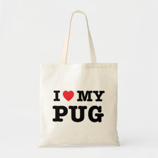I Herz meine Mops-Taschen-Tasche Tragetasche