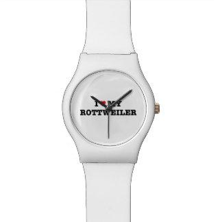I Herz meine Rottweiler May28th Armbanduhr