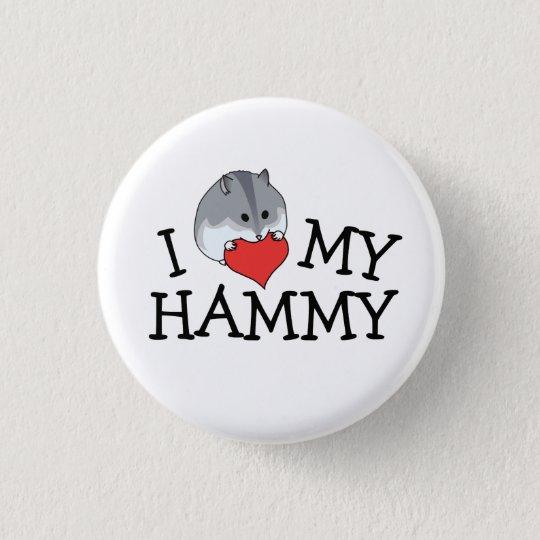 I Herz meines Hammy Russe-Campbell Zwerg Runder Button 3,2 Cm