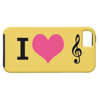 I Herz-Musik iPhone 5 Fall iPhone 5 Etuis