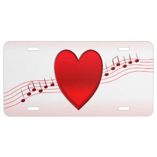 I Herz-Musik US Nummernschild