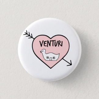 I Herz-Robert Venturi-Knopf Runder Button 3,2 Cm