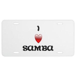 I Herz-Samba US Nummernschild