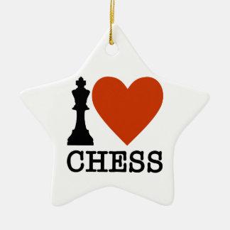 I Herz-Schach Keramik Ornament