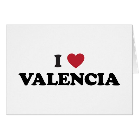 I Herz Valencia Grußkarte
