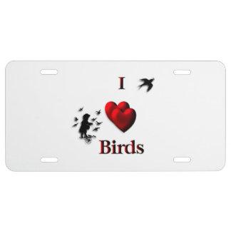 I Herz-Vögel US Nummernschild