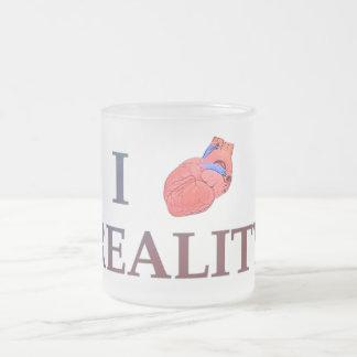 I Herz-Wirklichkeit Matte Glastasse
