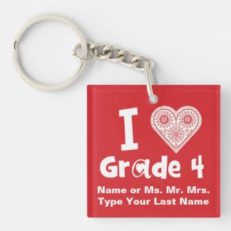 I ist Liebe-Grad-_/Unterricht Arbeit des Herzens Schlüsselanhänger