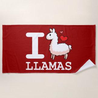I Lama-Lamas Strandtuch