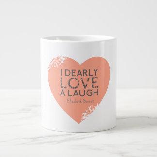 I lieb Liebe ein Lachen - Zitat Janes Austen Jumbo-Tasse