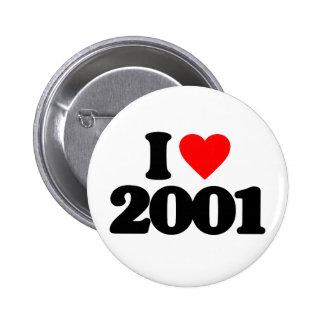 I LIEBE 2001 RUNDER BUTTON 5,1 CM