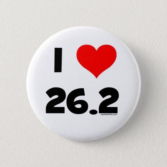 I Liebe 26,2 Runder Button 5,1 Cm