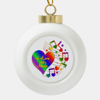 I Liebe-80er Musik Keramik Kugel-Ornament