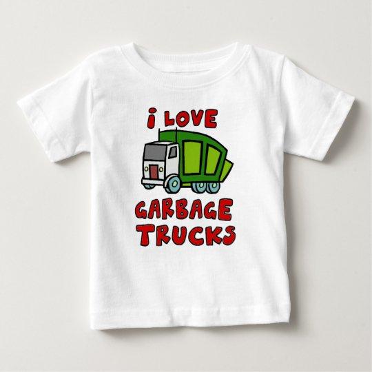 I LIEBE-ABFALL-LKWS!! Abfall-LKWs für Kinder!! Baby T-shirt