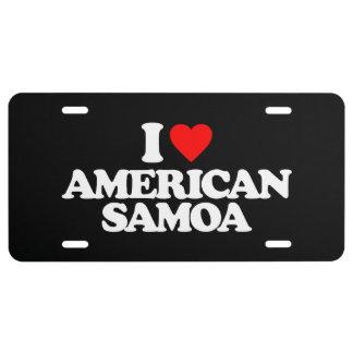 I LIEBE AMERICAN SAMOA US NUMMERNSCHILD