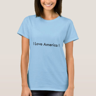 I Liebe-Amerika-T-Shirts T-Shirt