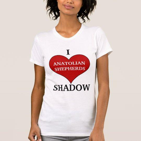 I LIEBE anatolisches Schäfer-Hundezucht-Shirt T-Shirt