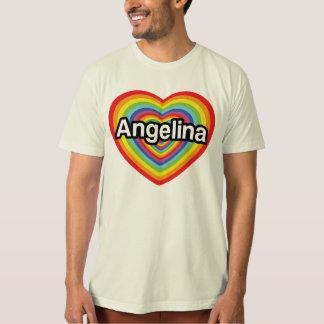 I Liebe Angelina, Regenbogenherz T-Shirt