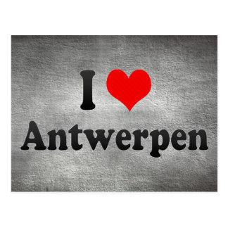 I Liebe Antwerpen, Belgien Postkarte