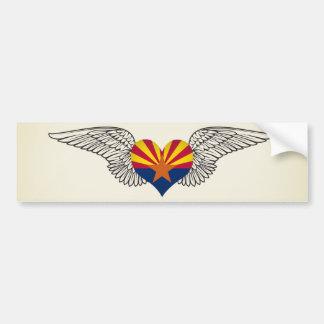 I Liebe Arizona - Flügel Autoaufkleber