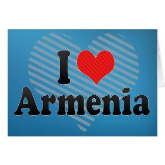 I Liebe Armenien Karte