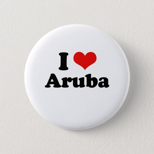 I Liebe-Aruba-T-Shirt Runder Button 5,1 Cm