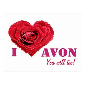 I Liebe AVON-Postkarte Postkarte