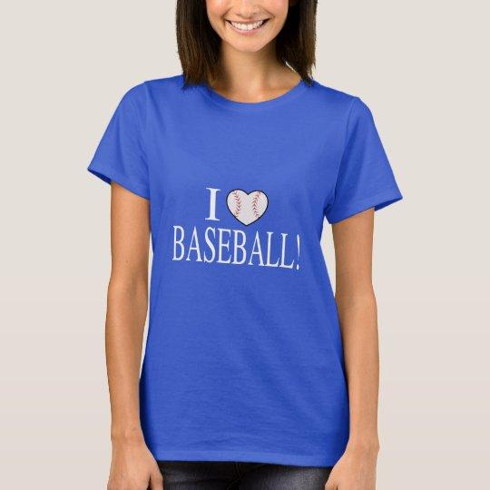 I Liebe-Baseball mit Baseball-Förmigem Herzen T-Shirt