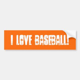 I Liebe-Baseball-Wand/Laptop-/Auto-Autoaufkleber