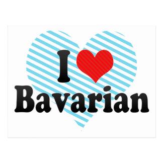 I Liebe-Bayer Postkarte