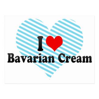 I Liebe-bayerische Creme Postkarten