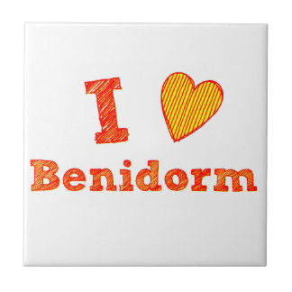 I Liebe Benidorm Fliese