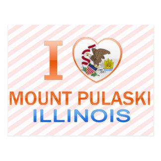 I Liebe-Berg Pulaski, IL Postkarte