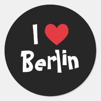 I Liebe Berlin Runder Aufkleber