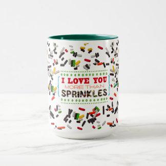 I Liebe besprühen Sie mehr als Tasse