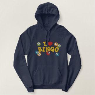 I Liebe-Bingo Bestickter Hoodie