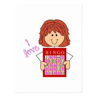 I Liebe-Bingo Postkarte