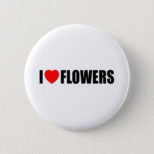 I Liebe-Blumen Runder Button 5,7 Cm