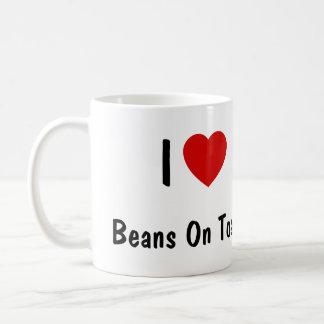 I Liebe-Bohnen auf Toast Kaffeetasse