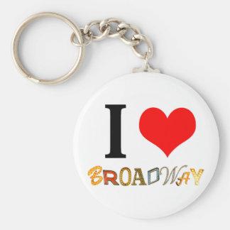 I Liebe Broadway Schlüsselanhänger