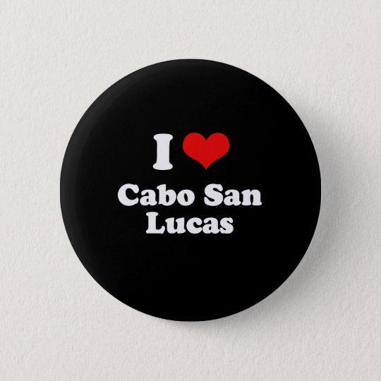 I Liebe Cabo San Lucas T-Shirt Weiß-T-Shirt Runder Button 5,7 Cm
