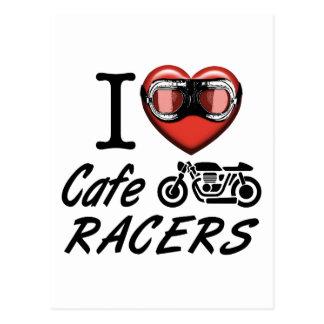 I Liebe-CaféRacers Postkarte