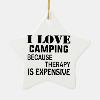 I Liebe-Camping, weil Therapie teuer ist Keramik Stern-Ornament