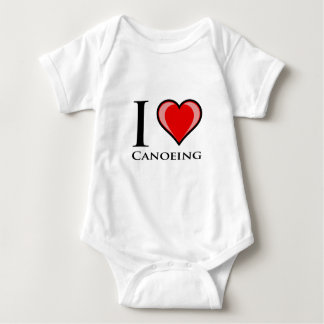 I Liebe Canoeing Baby Strampler