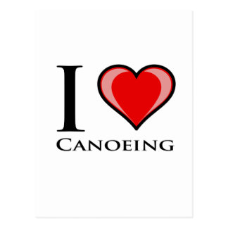 I Liebe Canoeing Postkarte