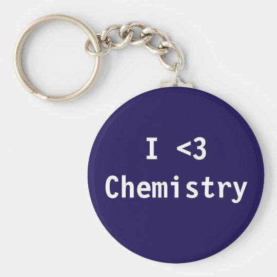 I Liebe-Chemie Standard Runder Schlüsselanhänger