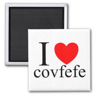 I Liebe Covfefe Quadratischer Magnet