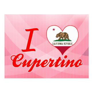 I Liebe Cupertino, Kalifornien Postkarte